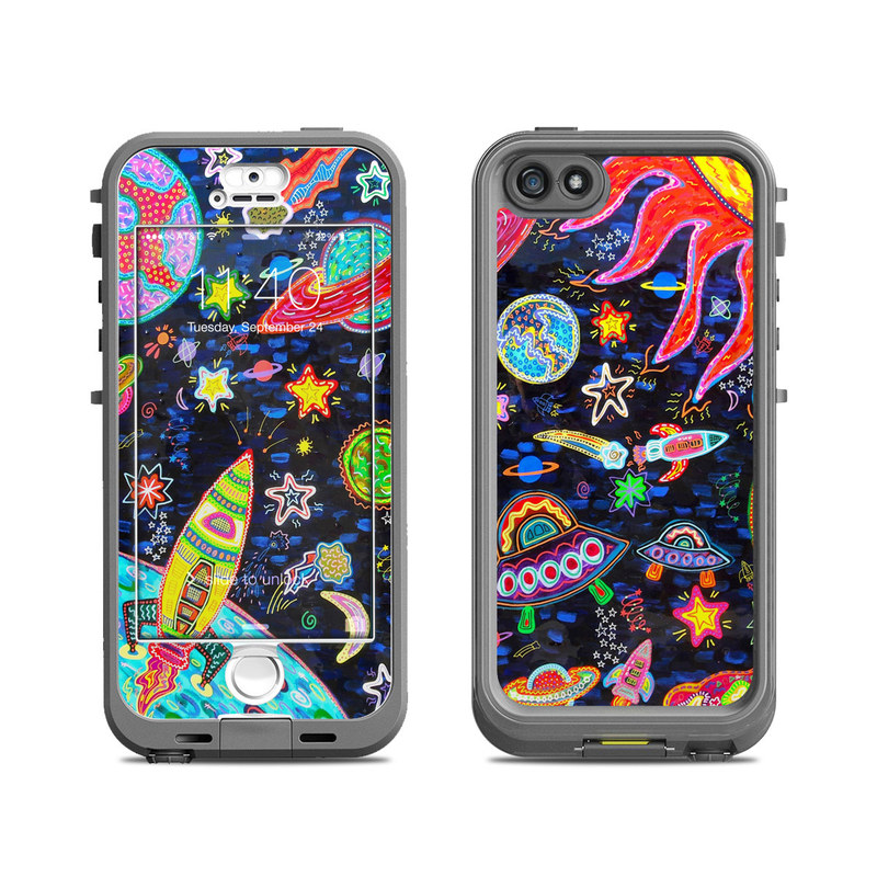 Out to Space LifeProof iPhone SE, 5s nuud Case Skin