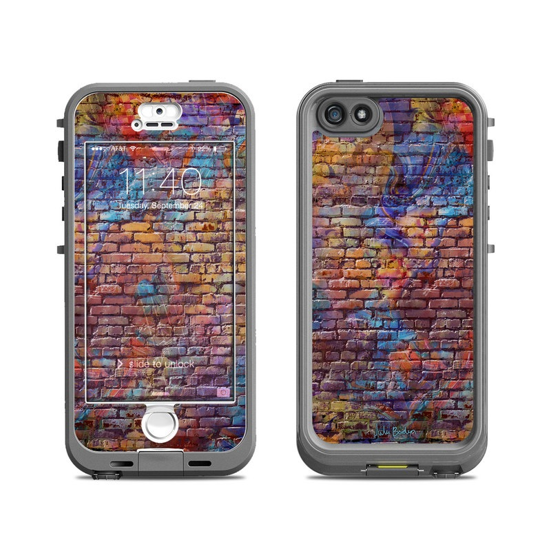 Painted Brick LifeProof iPhone SE, 5s nuud Case Skin