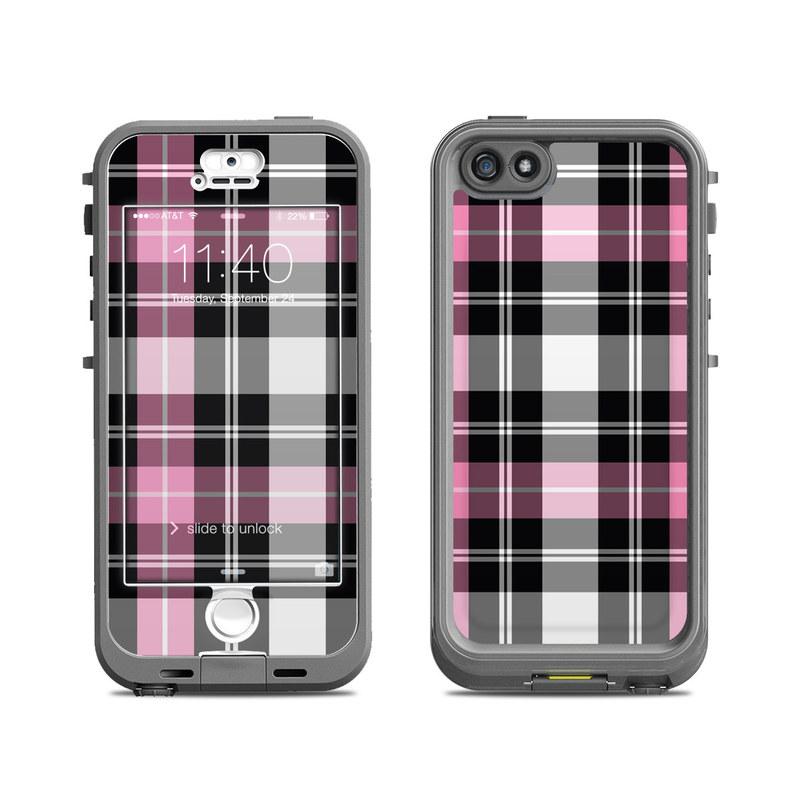 Pink Plaid LifeProof iPhone SE, 5s nuud Skin