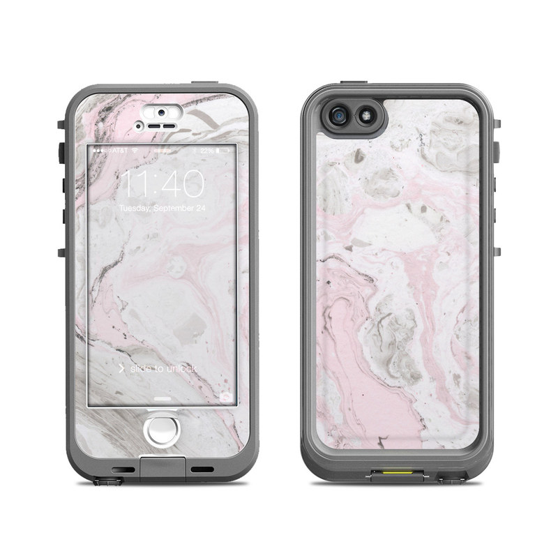 Rosa Marble LifeProof iPhone SE, 5s nuud Case Skin