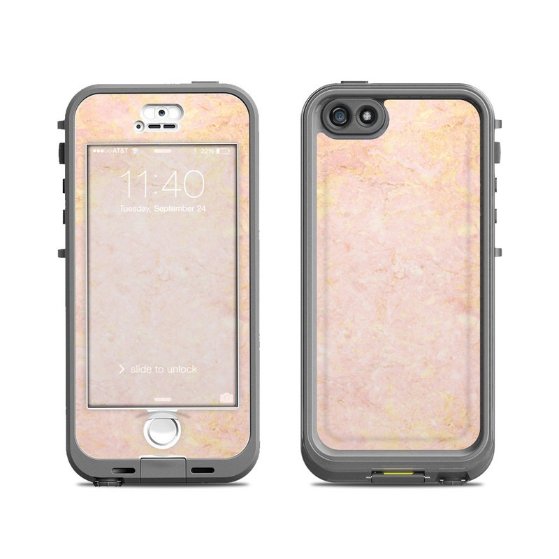 quality design 3b833 1f58c Rose Gold Marble LifeProof iPhone SE, 5s nuud Case Skin