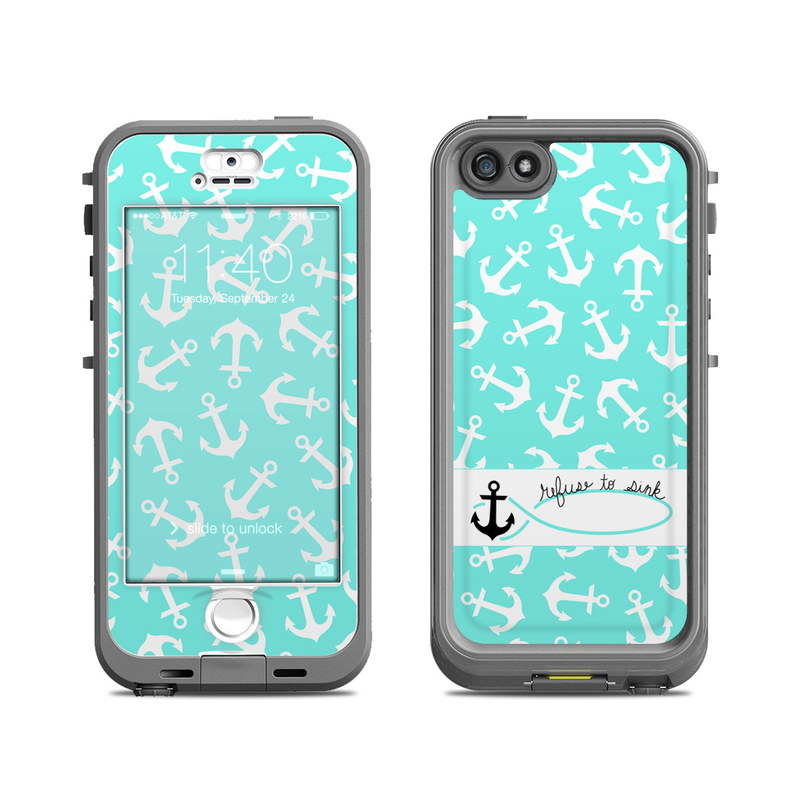 Refuse to Sink LifeProof iPhone SE, 5s nuud Case Skin