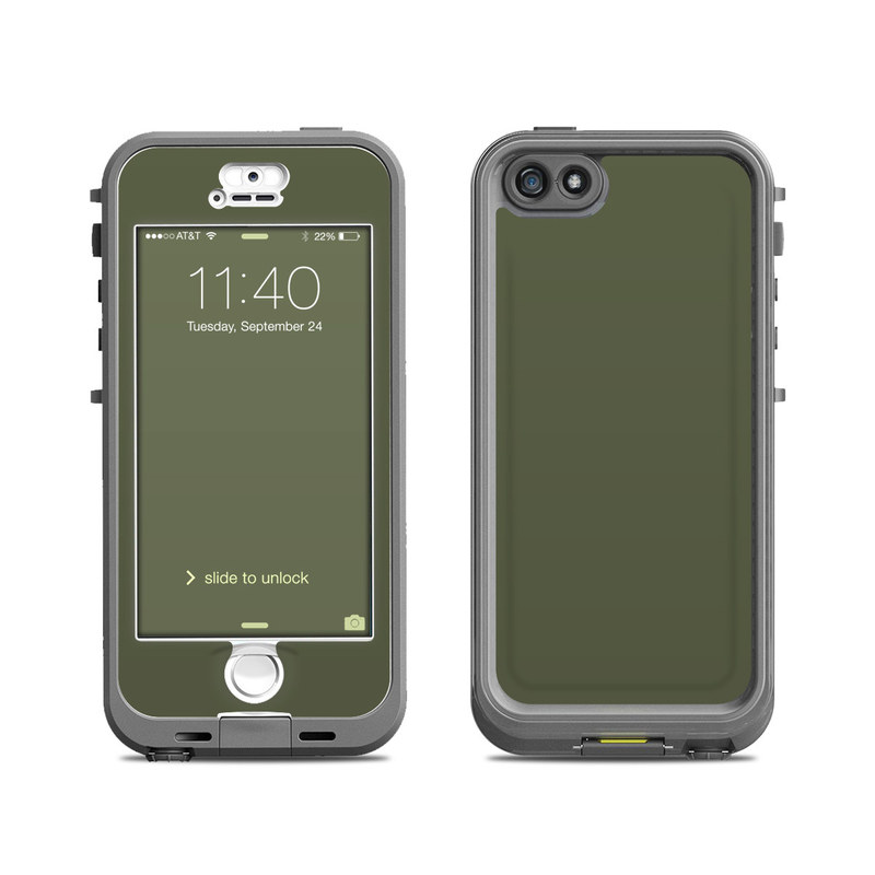 Solid State Olive Drab LifeProof iPhone SE, 5s nuud Skin