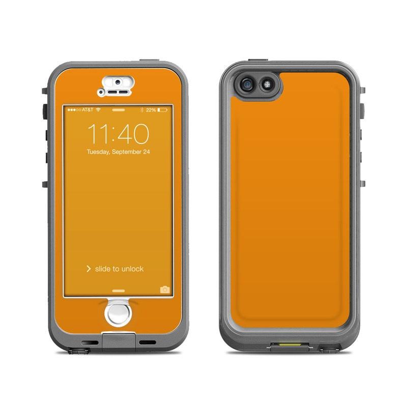 Solid State Orange LifeProof iPhone SE, 5s nuud Case Skin
