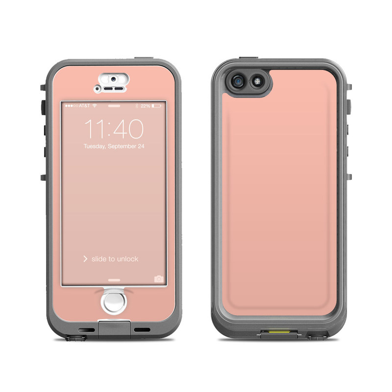 Solid State Peach LifeProof iPhone SE, 5s nuud Case Skin