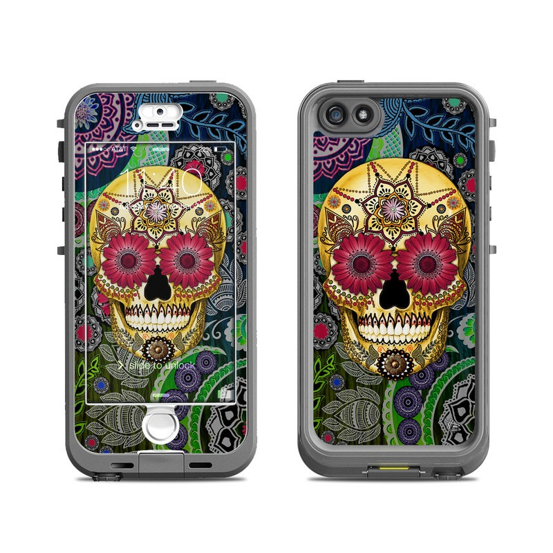 Sugar Skull Paisley LifeProof iPhone SE, 5s nuud Skin