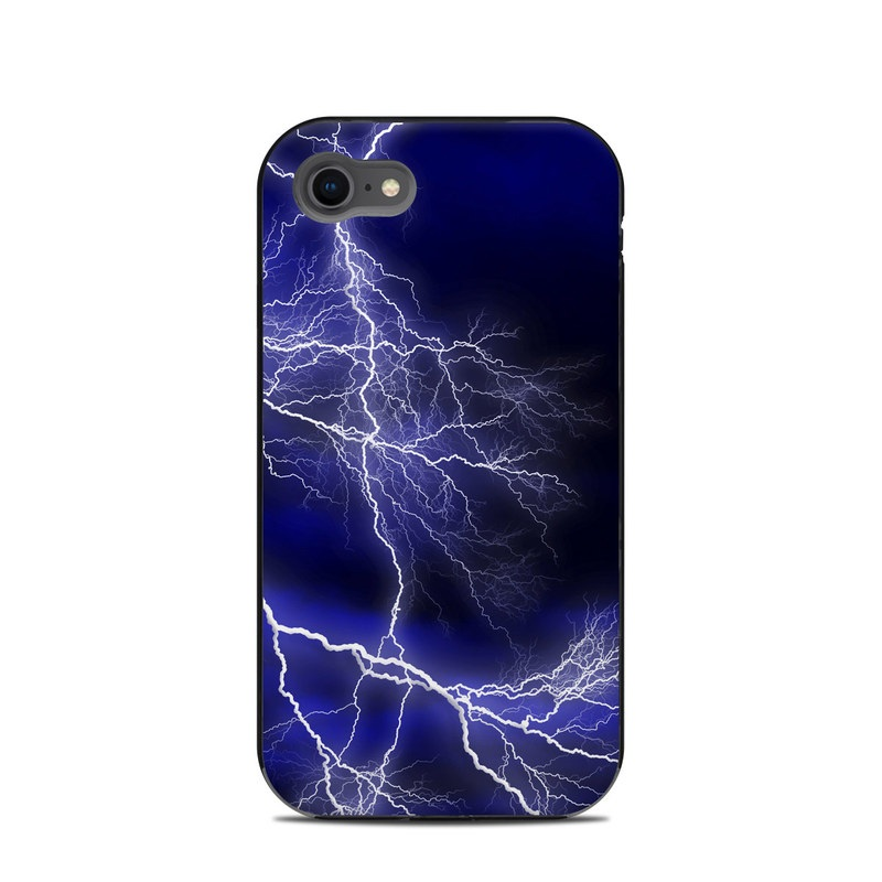LifeProof iPhone 8 Next Case Skin design of Thunder, Lightning, Thunderstorm, Sky, Nature, Electric blue, Atmosphere, Daytime, Blue, Atmospheric phenomenon with blue, black, white colors