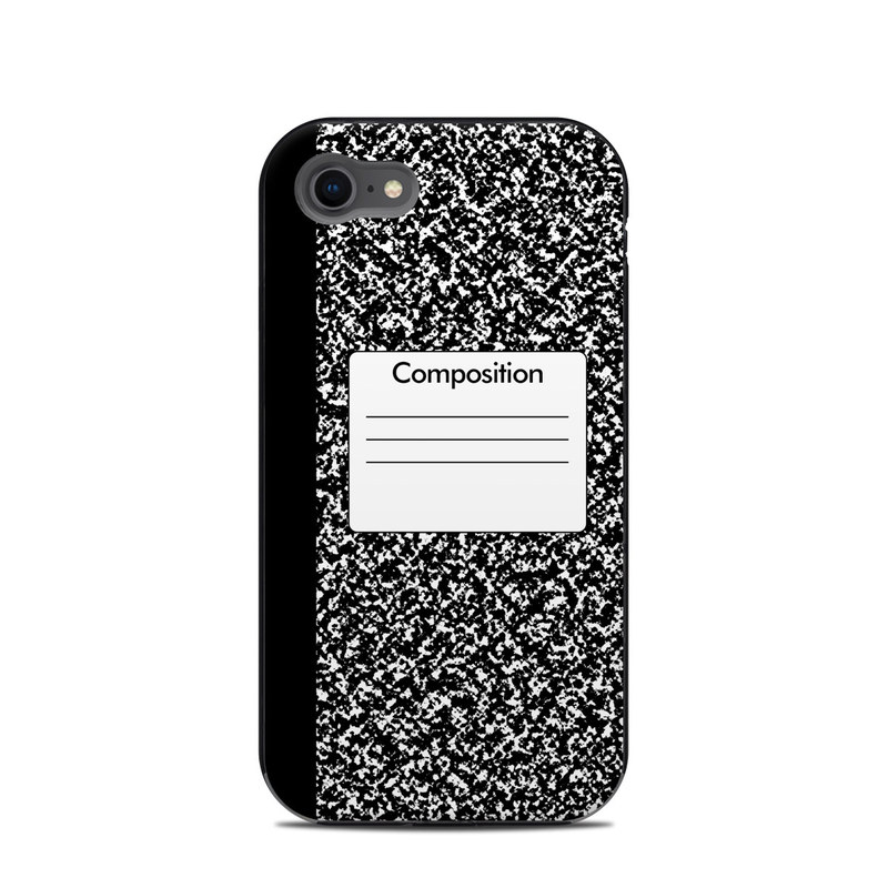 LifeProof iPhone 8 Next Case Skin design of Text, Font, Line, Pattern, Black-and-white, Illustration with black, gray, white colors