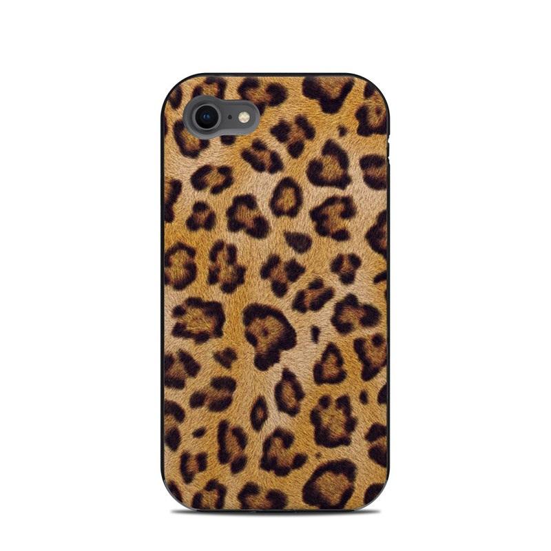 LifeProof iPhone 8 Next Case Skin design of Pattern, Felidae, Fur, Brown, Design, Terrestrial animal, Close-up, Big cats, African leopard, Organism with orange, black colors