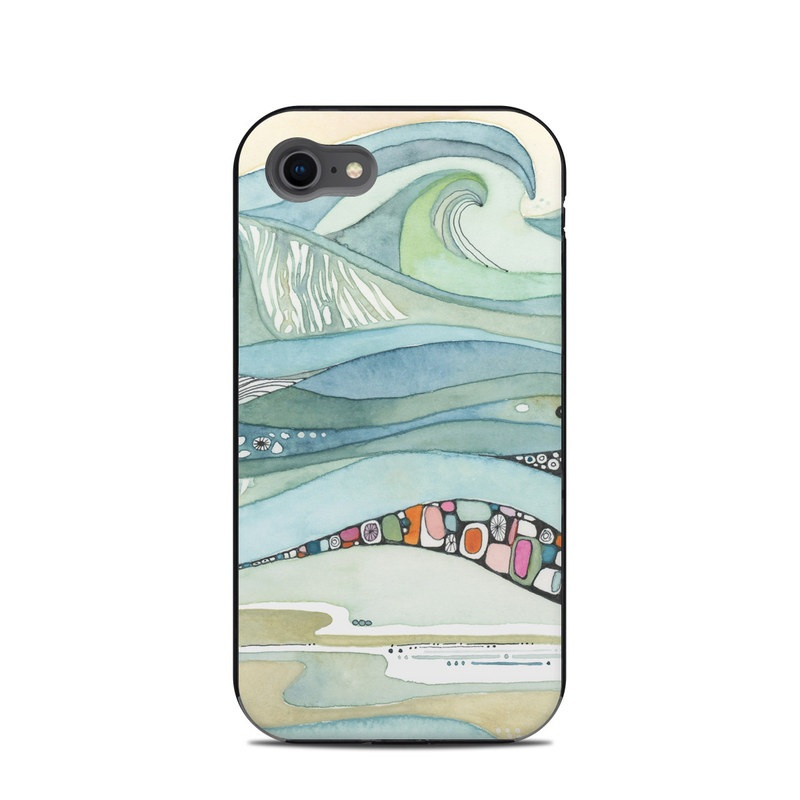LifeProof iPhone 8 Next Case Skin design of Line, Illustration, Art with blue, green, orange, pink, black, white, yellow colors