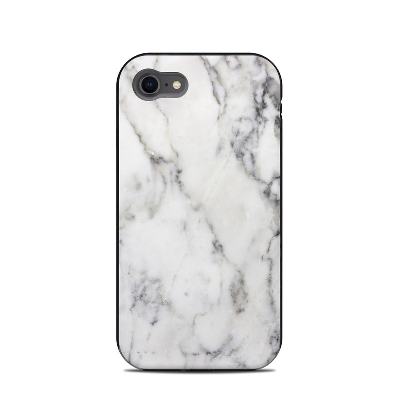 LifeProof iPhone 8 Next Case Skin design of White, Geological phenomenon, Marble, Black-and-white, Freezing with white, black, gray colors
