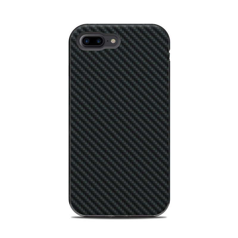 LifeProof iPhone 8 Plus Next Case Skin design of Green, Black, Blue, Pattern, Turquoise, Carbon, Textile, Metal, Mesh, Woven fabric with black colors