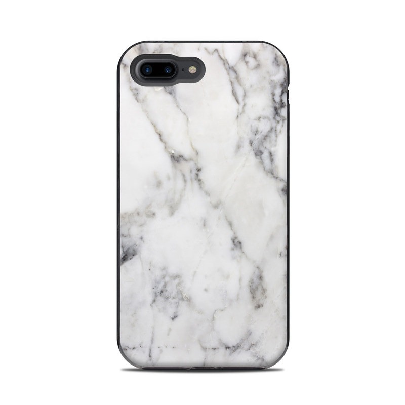 White Marble LifeProof iPhone 8 Plus Next Case Skin