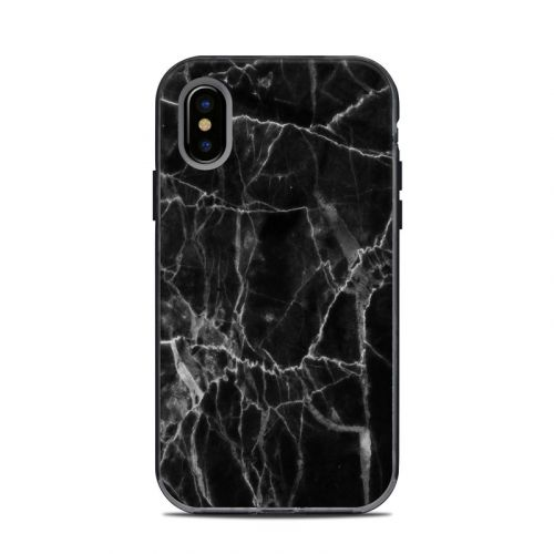 Black Marble LifeProof iPhone X Next Case Skin