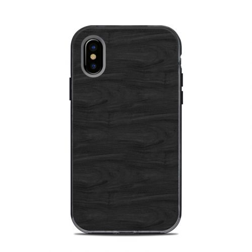 Black Woodgrain LifeProof iPhone X Next Case Skin