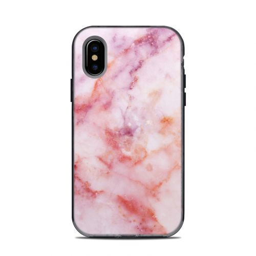 Blush Marble LifeProof iPhone X Next Case Skin