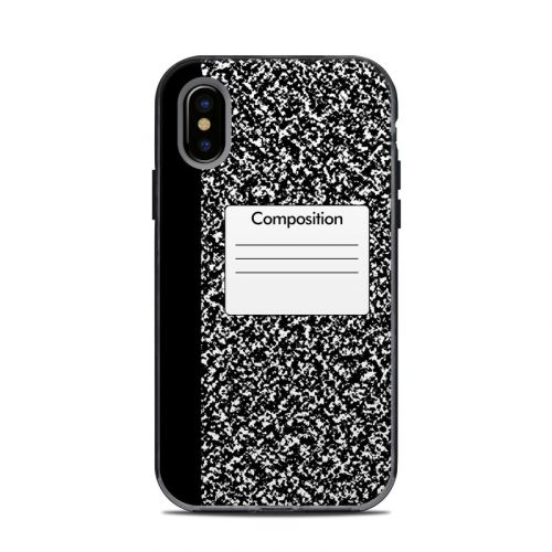 Composition Notebook LifeProof iPhone X Next Case Skin