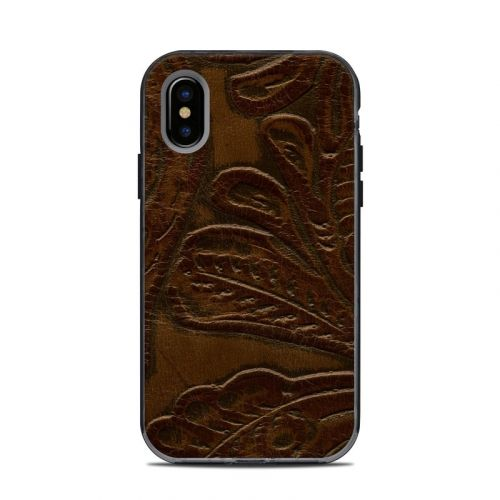 Saddle Leather LifeProof iPhone X Next Case Skin