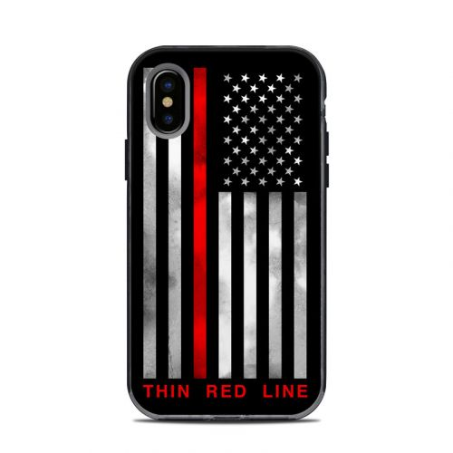 Thin Red Line LifeProof iPhone X Next Case Skin