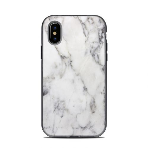 White Marble LifeProof iPhone X Next Case Skin