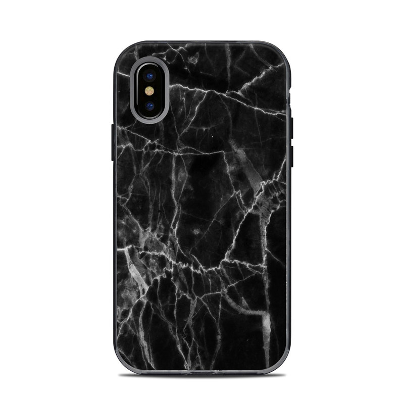 buy popular 5830d 6fa95 Black Marble LifeProof iPhone X Next Case Skin