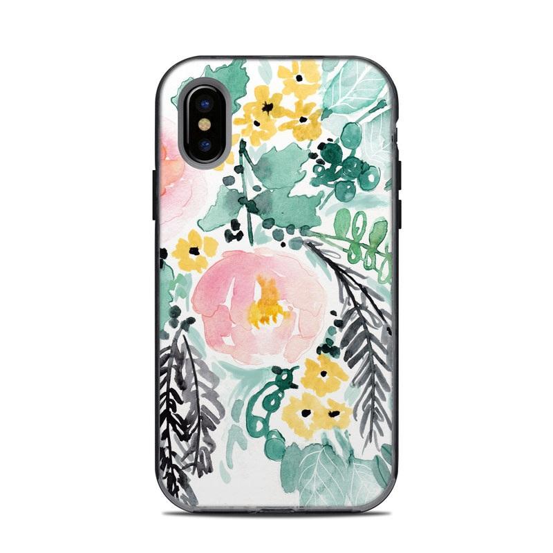 Blushed Flowers LifeProof iPhone X Next Case Skin