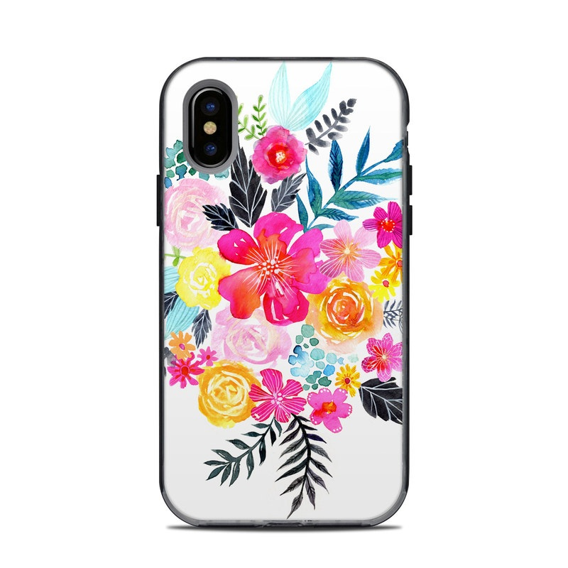Pink Bouquet LifeProof iPhone X Next Case Skin