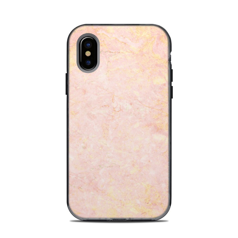 Rose Gold Marble LifeProof iPhone X Next Case Skin