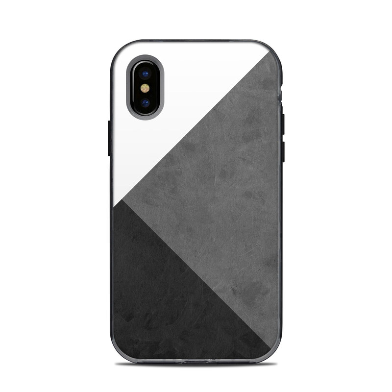 LifeProof iPhone X Next Case Skin design of Black, White, Black-and-white, Line, Grey, Architecture, Monochrome, Triangle, Monochrome photography, Pattern with white, black, gray colors