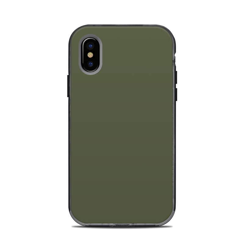 LifeProof iPhone X Next Case Skin design of Green, Brown, Text, Yellow, Grass, Font, Pattern, Beige with green colors