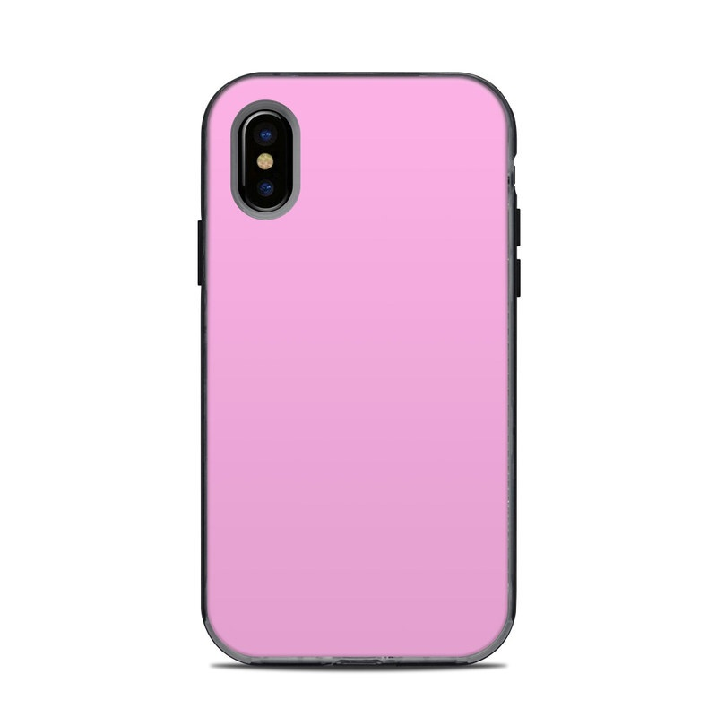Solid State Pink LifeProof iPhone X Next Case Skin