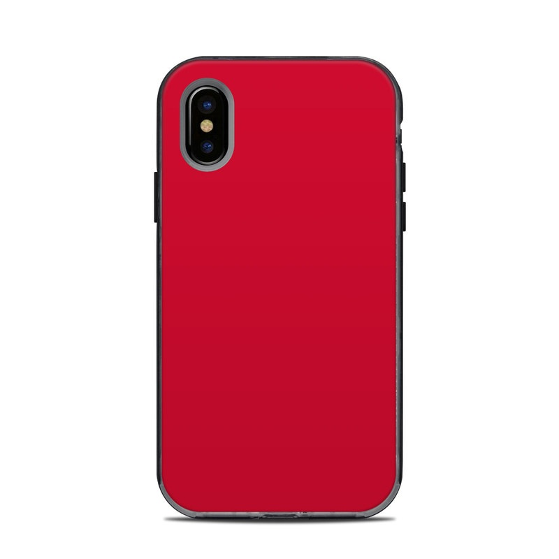 LifeProof iPhone X Next Case Skin design of Red, Pink, Maroon, Purple, Orange, Violet, Magenta, Material property, Font, Peach with red colors