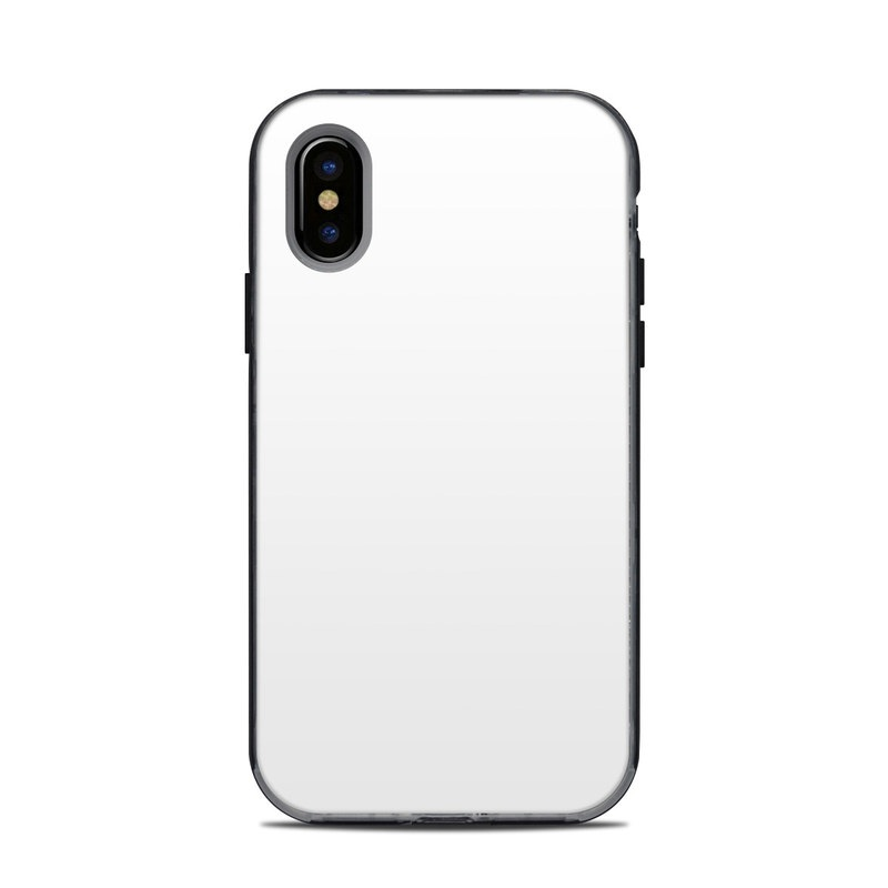 LifeProof iPhone X Next Case Skin design of White, Black, Line with white colors