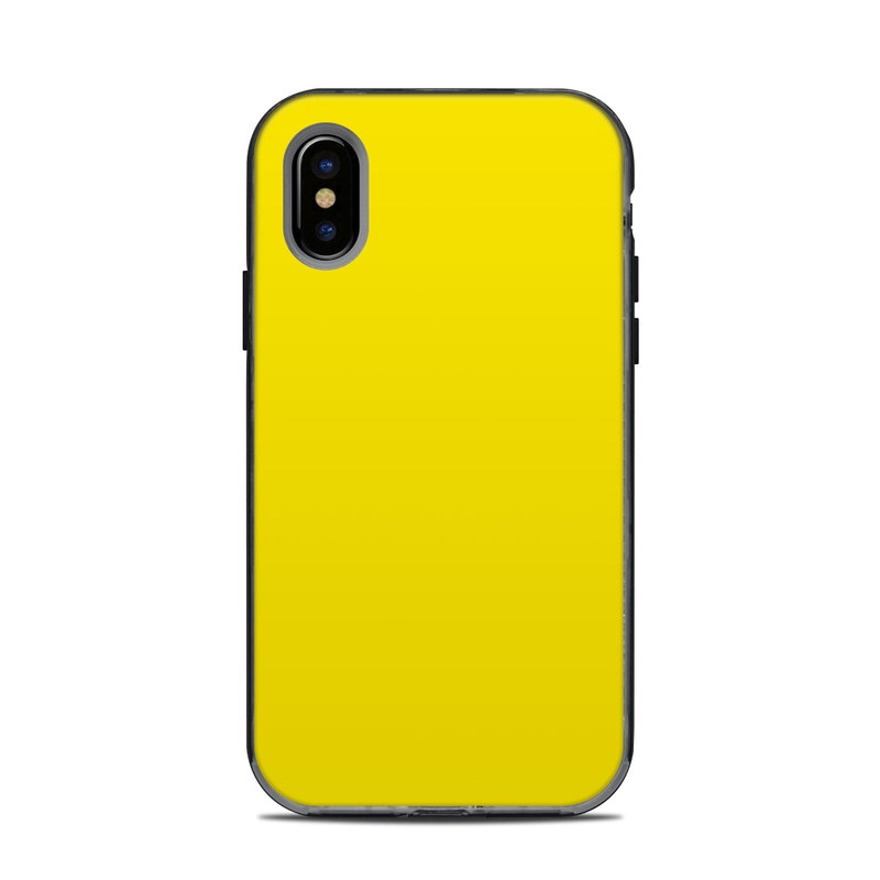 LifeProof iPhone X Next Case Skin design of Green, Yellow, Orange, Text, Font with yellow colors