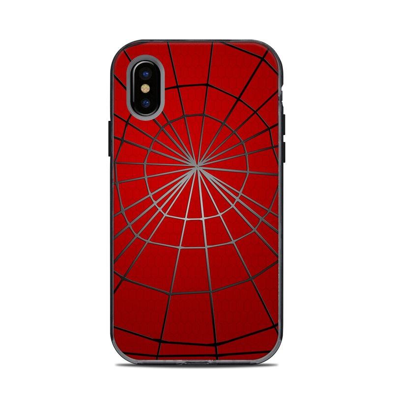 LifeProof iPhone X Next Case Skin design of Red, Symmetry, Circle, Pattern, Line with red, black, gray colors