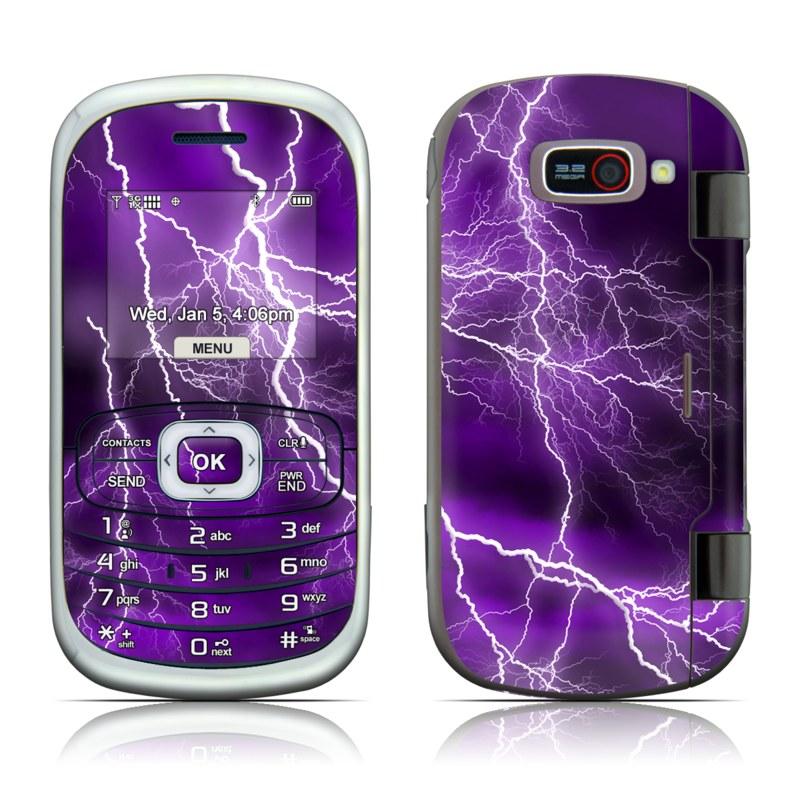 LG Octane VN530 Skin design of Thunder, Lightning, Thunderstorm, Sky, Nature, Purple, Violet, Atmosphere, Storm, Electric blue with purple, black, white colors