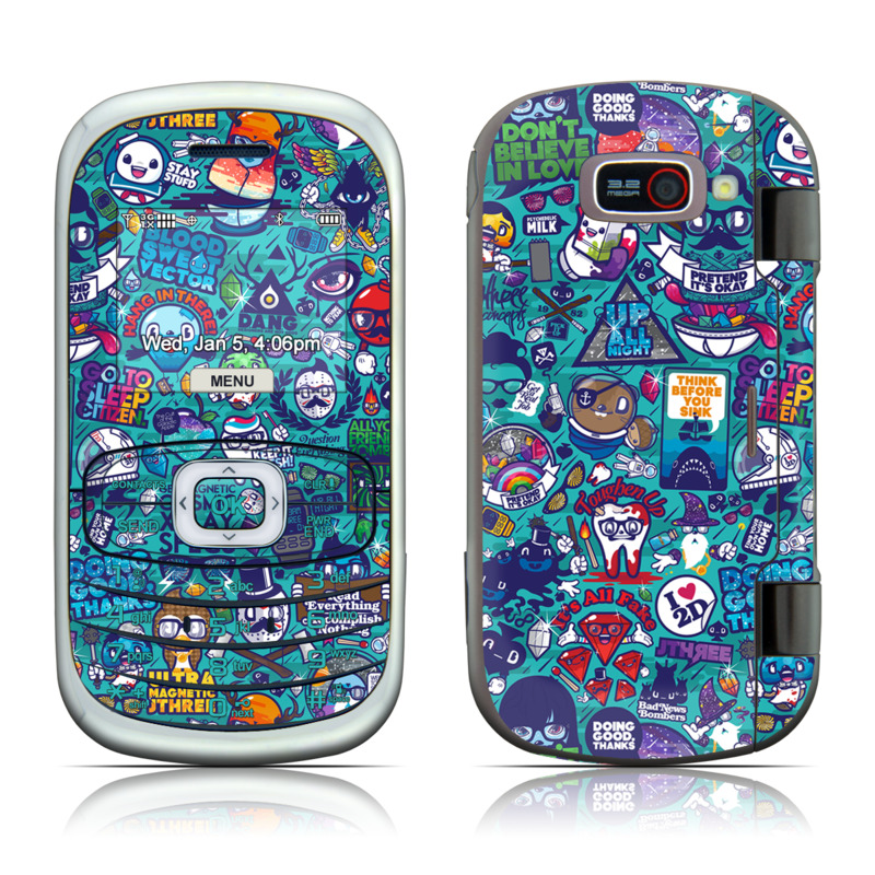 LG Octane VN530 Skin design of Art, Visual arts, Illustration, Graphic design, Psychedelic art with blue, black, gray, red, green colors