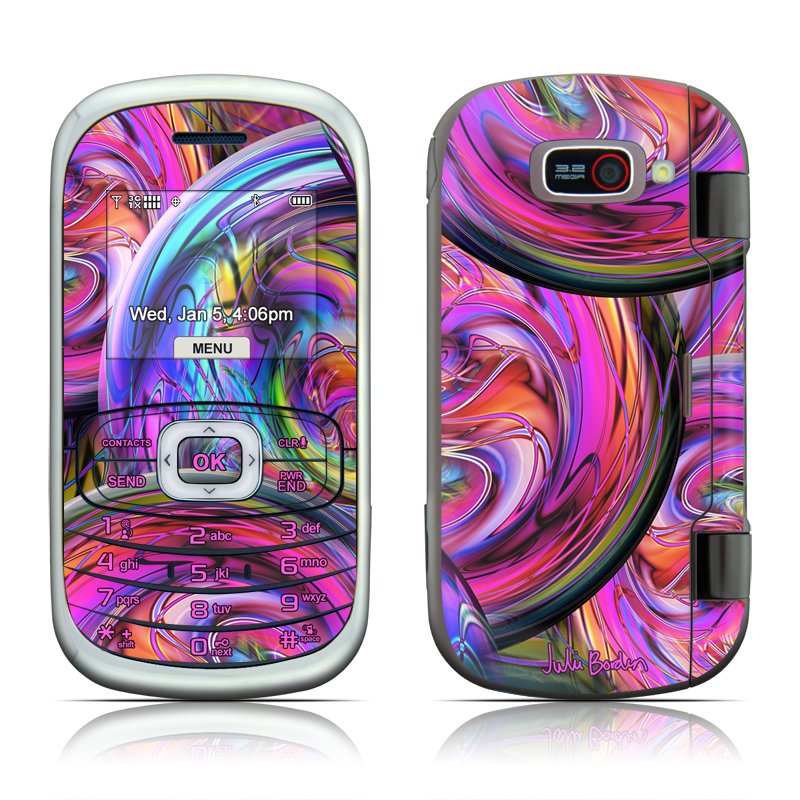 LG Octane VN530 Skin design of Pattern, Psychedelic art, Purple, Art, Fractal art, Design, Graphic design, Colorfulness, Textile, Visual arts with purple, black, red, gray, blue, green colors