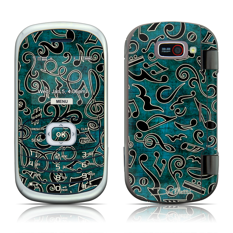 Music Notes LG Octane VN530 Skin