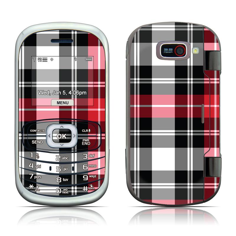 Red Plaid LG Octane VN530 Skin
