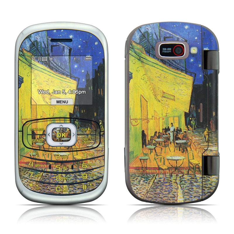 Cafe Terrace At Night LG Octane VN530 Skin