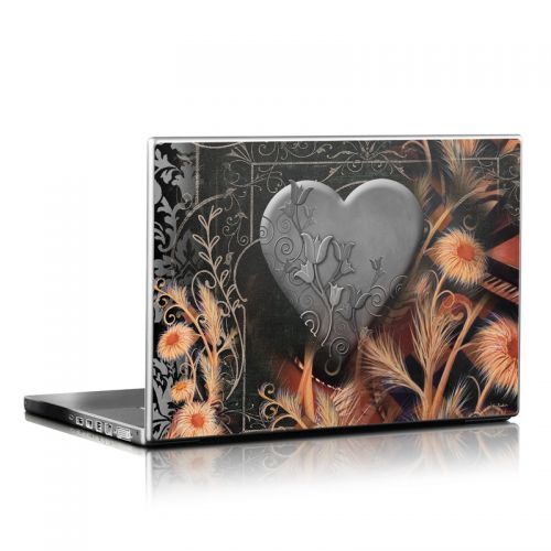 Black Lace Flower Laptop Skin