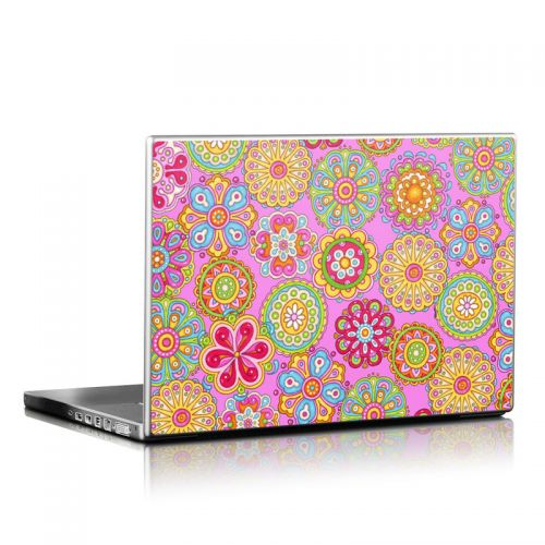 Bright Flowers Laptop Skin