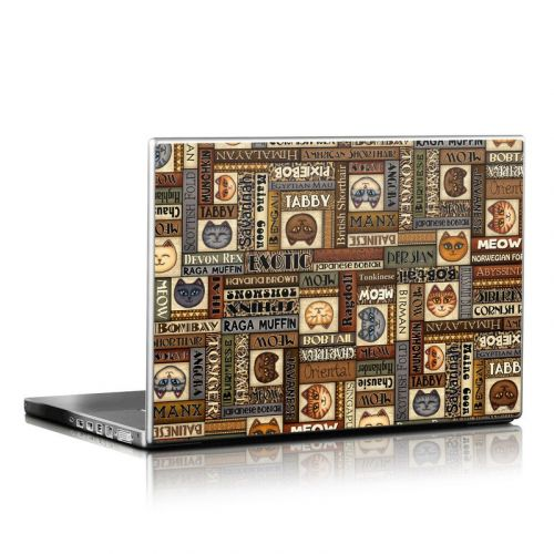 Cat Breeds Laptop Skin