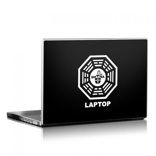Dharma Black Laptop Skin