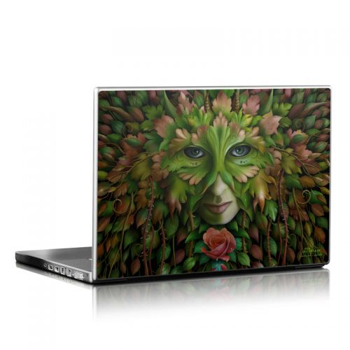 Green Woman Laptop Skin
