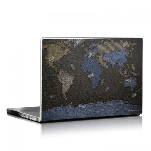 Jean Map Laptop Skin