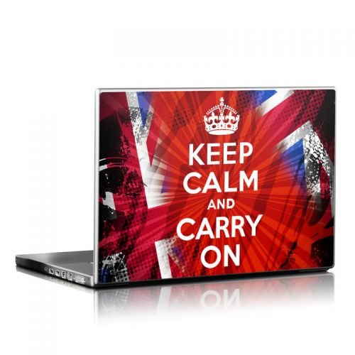 Keep Calm - Grunge Laptop Skin