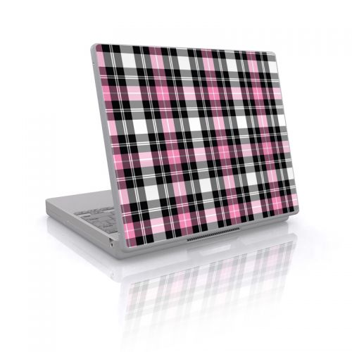 Pink Plaid Laptop Skin