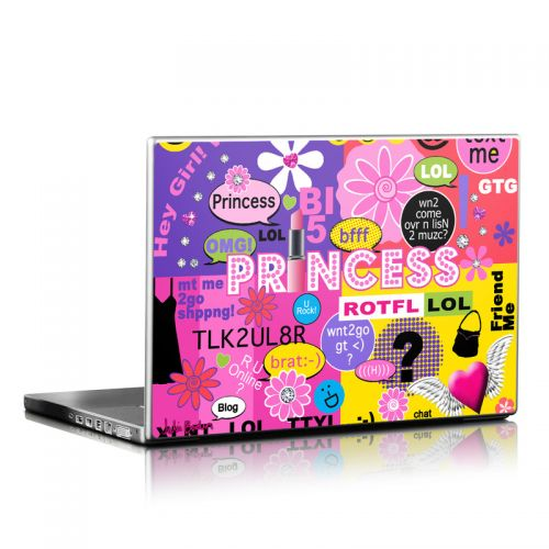 Princess Text Me Laptop Skin